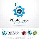 Vektor för design för fotokugghjulmall Arkivfoton