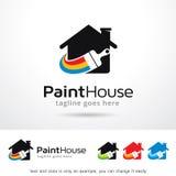 Vektor för design för målarfärghusmall Royaltyfri Illustrationer