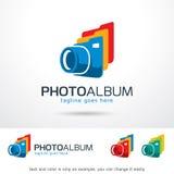 Vektor för design för mall för fotoalbum Stock Illustrationer