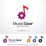 Vektor för design för musikkugghjulmall Royaltyfri Illustrationer
