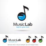 Vektor för design för musiklabbmall Stock Illustrationer