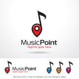 Vektor för design för musikpunktmall Stock Illustrationer