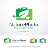 Vektor för design för naturfotomall Arkivfoto