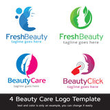 Vektor för design för skönhetomsorgmall Royaltyfri Illustrationer