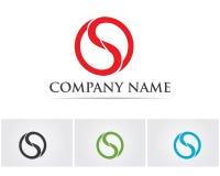 Vektor för design för logo för bokstav S för affär företags Arkivbilder