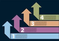 Vektor för design för moment för abstrakt pilfärg pastellfärgad infographic vektor illustrationer