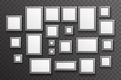 Vektor för design för stor liten realistisk för symbol för fotokonstgalleripapper för uppsättning för mall genomskinlig för vägg  Arkivbild