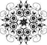 vektor för designelementblomma Royaltyfri Foto