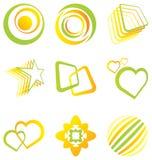 vektor för designelementlogoer royaltyfri illustrationer