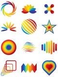 vektor för designelementlogoer stock illustrationer