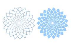 vektor för designelementset Abstrakta geometriska modeller för blå och vit cirkel royaltyfri illustrationer