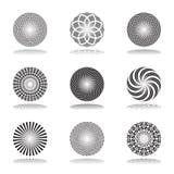 vektor för designelementset modeller in för element för 1 ställde 25 konstcirkeldesign formvektorn abstrakt symboler royaltyfri illustrationer