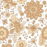 vektor för detaljerad teckning för bakgrund blom- botaniskt tryck bukettbows figure seamless litet för blommamodell 0 tillgänglig Arkivfoto