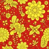 vektor för detaljerad teckning för bakgrund blom- botaniskt tryck bukettbows figure seamless litet för blommamodell 0 tillgänglig Royaltyfria Bilder