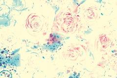 vektor för detaljerad teckning för bakgrund blom- royaltyfri illustrationer