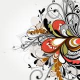 vektor för detaljerad teckning för bakgrund blom- Royaltyfri Bild
