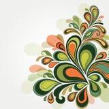 vektor för detaljerad teckning för bakgrund blom- Arkivfoto