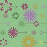 vektor för detaljerad teckning för bakgrund blom- vektor illustrationer
