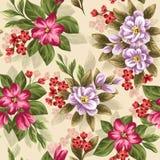 vektor för detaljerad teckning för bakgrund blom- Fotografering för Bildbyråer