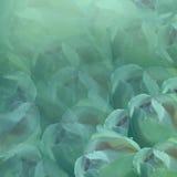 vektor för detaljerad teckning för bakgrund blom- Blommor på turkosbakgrund Ljus-turkos blommar rosor blom- collage vita tulpan f Royaltyfria Bilder