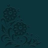 vektor för detaljerad teckning för bakgrund blom- också vektor för coreldrawillustration Royaltyfri Bild