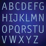 vektor för diamantgemstonesbokstäver Arkivfoto