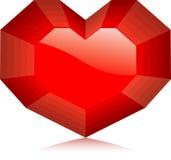 vektor för diamanthjärtaillustration Arkivfoto