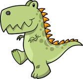 vektor för dinosaurillustrationtyrannosaurus Fotografering för Bildbyråer