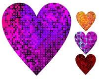 vektor för diskohjärtaillustration Royaltyfri Fotografi