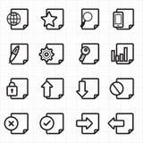 Vektor för dokumentsymboler Arkivbilder