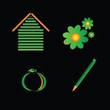 Vektor för Eco teckenfärg Royaltyfri Fotografi