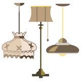 Vektor för elkraft för design för ljus för lampmöblemanguppsättning stock illustrationer