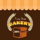 Vektor 1977 för EST för Freshy brödbageri Arkivbild