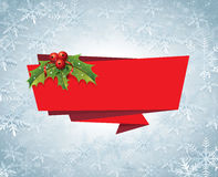 Vektor för etikett för julbanerband Arkivbild
