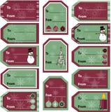 vektor för etikett för julsamlingsgåva Arkivbild