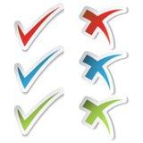 vektor för etiketter för kontrollfläck royaltyfri illustrationer