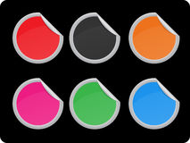 vektor för etikettset Royaltyfri Fotografi