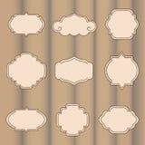 vektor för etikettset Royaltyfria Bilder