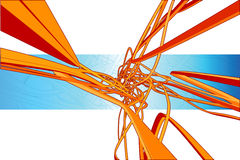 vektor för explosion 3d royaltyfri illustrationer