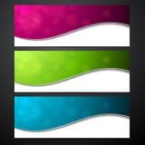 vektor för färgrikt papper för baner set Royaltyfria Foton