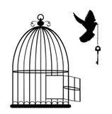Vektor för fågelbur Arkivbild