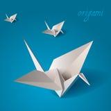 vektor för fågelkranorigami vektor illustrationer