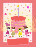 vektor för födelsedagkortillustration Royaltyfri Fotografi