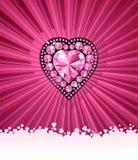 vektor för förälskelse för bakgrundsdiamanthjärta Arkivfoto