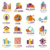 Vektor för företag för fastighet för emblem för logo för byrå för bärare för byggmästare för konstruktion för arkitekturbyggnadss Royaltyfria Foton