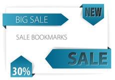 vektor för försäljning för blått papper för pilar Royaltyfri Foto