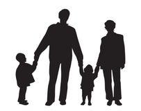 vektor för familj fyra royaltyfri illustrationer
