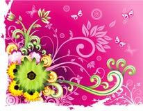 vektor för fantasiblommaillustration stock illustrationer