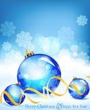 vektor för ferie för bakgrundsbollar blå vektor illustrationer