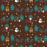 Vektor för ferie för natt för glad jul stock illustrationer
